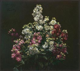 White and Purple Stock, 1877 by Fantin-Latour | Painting Reproduction