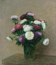 Asters, 1892 by Fantin-Latour | Painting Reproduction