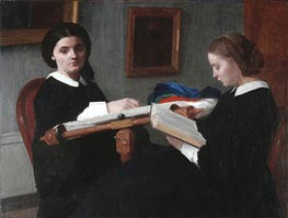 The Two Sisters, 1859 by Fantin-Latour | Painting Reproduction