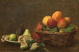 Still Life with Fruits, 1890 von Fantin-Latour | Gemälde-Reproduktion