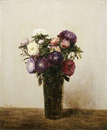 Vase of Flowers, 1872 by Fantin-Latour | Painting Reproduction