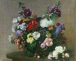 A Bouquet of Mixed Flowers, 1881 von Fantin-Latour | Gemälde-Reproduktion