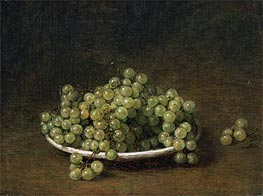 White Grapes on a Plate, 1896 by Fantin-Latour | Painting Reproduction