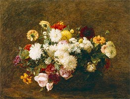 Bouquet of Flowers, 1894 von Fantin-Latour | Gemälde-Reproduktion