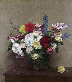 The Rosy Wealth of June, 1886 by Fantin-Latour | Painting Reproduction