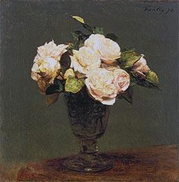 White Roses, 1873 von Fantin-Latour | Gemälde-Reproduktion