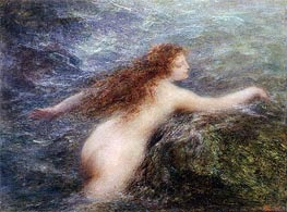 Naiad, c.1896 by Fantin-Latour | Painting Reproduction