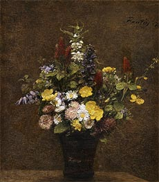 Wild Flowers, 1879 von Fantin-Latour | Gemälde-Reproduktion