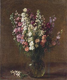 Larkspur, 1887 by Fantin-Latour | Painting Reproduction