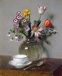 Spring Bouquet, 1865 by Fantin-Latour | Painting Reproduction