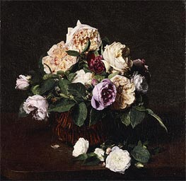 Vase of Flowers, 1876 by Fantin-Latour | Painting Reproduction