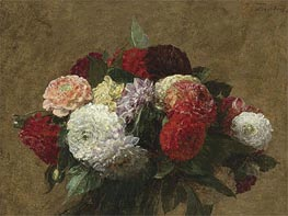 Dahlias, 1899 by Fantin-Latour | Painting Reproduction