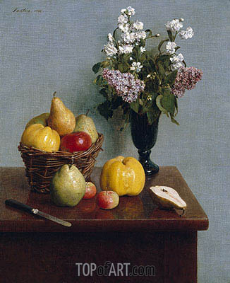 Fantin-Latour | Still Life with Flowers and Fruit, 1866