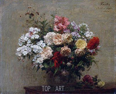 Fantin-Latour | Sommerblumen, 1880