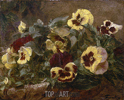 Pansies, 1903 | Fantin-Latour | Painting Reproduction
