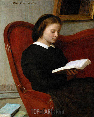 The Reader, 1861 | Fantin-Latour | Gemälde Reproduktion