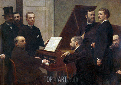 At the Piano, 1885 | Fantin-Latour| Gemälde Reproduktion
