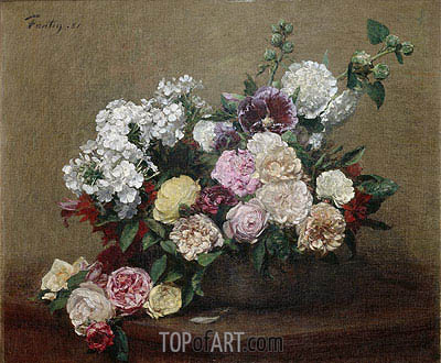 Roses, 1881 | Fantin-Latour | Painting Reproduction