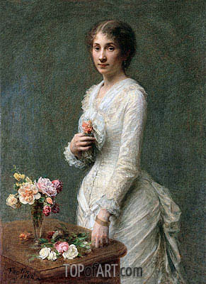 Madeleine Lerolle, 1882 | Fantin-Latour| Painting Reproduction