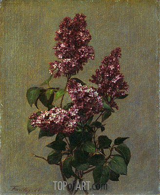 Spray of Purple Lilac, 1880 | Fantin-Latour| Gemälde Reproduktion