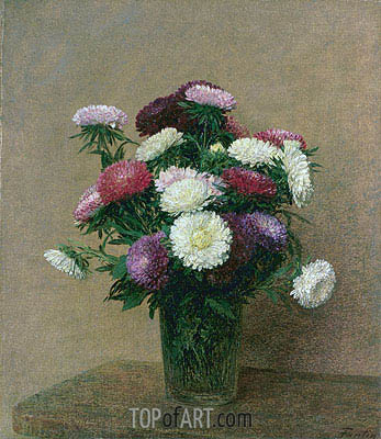 Asters, 1892 | Fantin-Latour| Painting Reproduction