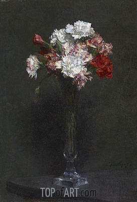 Oeillets, 1872 | Fantin-Latour | Painting Reproduction