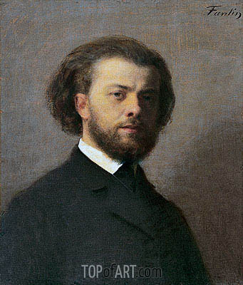 Self Portrait, 1867 | Fantin-Latour | Painting Reproduction