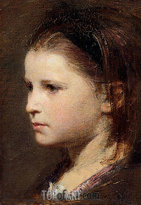 Head of a Young Girl, 1870 | Fantin-Latour| Painting Reproduction