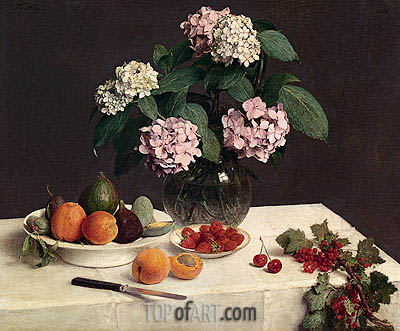 The Dressed Table, 1866 | Fantin-Latour| Painting Reproduction