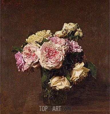 Fantin-Latour | Roses in a Vase, 1894