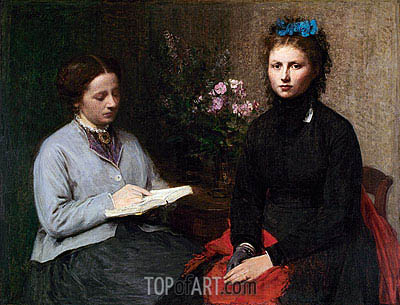 The Reading, 1870 | Fantin-Latour| Painting Reproduction