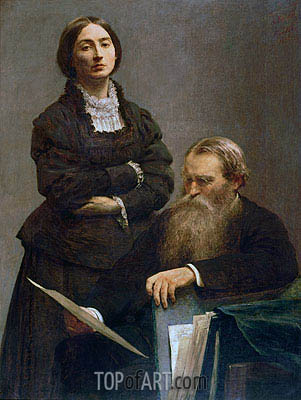 Mr and Mrs Edwin Edwards, 1875 | Fantin-Latour | Painting Reproduction