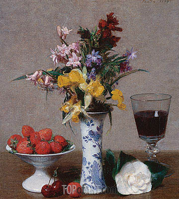Still Life, 1869 | Fantin-Latour | Painting Reproduction