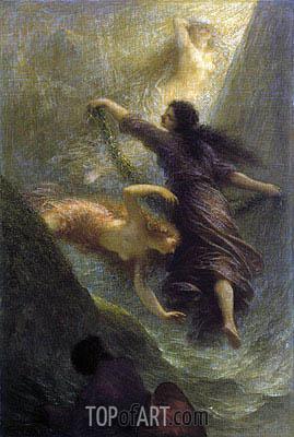 Fantin-Latour | Rheingold (First Scene), 1888