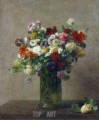 Still Life with Flowers, 1887 | Fantin-Latour | Gemälde Reproduktion