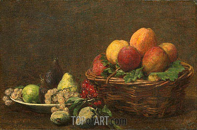 Still Life with Fruits, 1890 | Fantin-Latour| Painting Reproduction