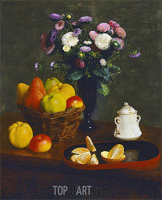 Flowers and Fruit, 1866 | Fantin-Latour | Gemälde Reproduktion