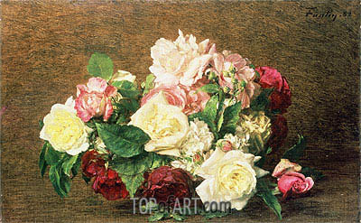 Roses, 1882 | Fantin-Latour | Painting Reproduction