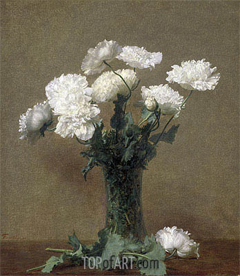 Poppies, 1891 | Fantin-Latour | Painting Reproduction
