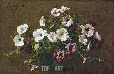 Petunias, 1881 | Fantin-Latour | Painting Reproduction