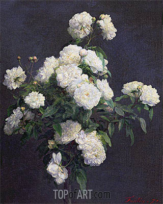 Fantin-Latour | Still Life of White Peonies, 1870