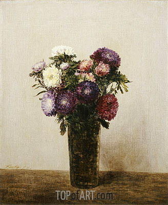 Vase of Flowers, 1872 | Fantin-Latour | Painting Reproduction