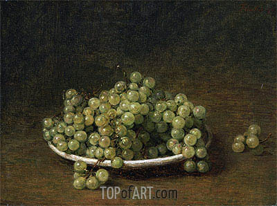 White Grapes on a Plate, 1896 | Fantin-Latour | Painting Reproduction