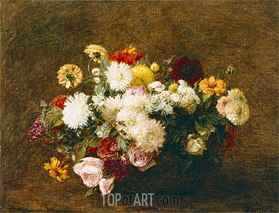 Bouquet of Flowers, 1894 | Fantin-Latour| Painting Reproduction