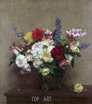 The Rosy Wealth of June, 1886 | Fantin-Latour | Painting Reproduction