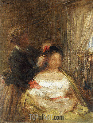 The Hairdresser, undated | Fantin-Latour | Gemälde Reproduktion