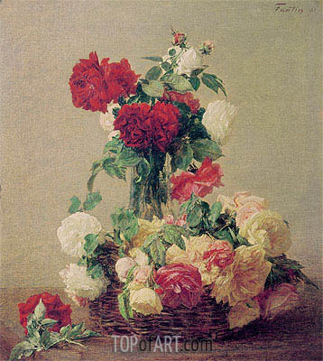 Roses, 1891 | Fantin-Latour | Painting Reproduction