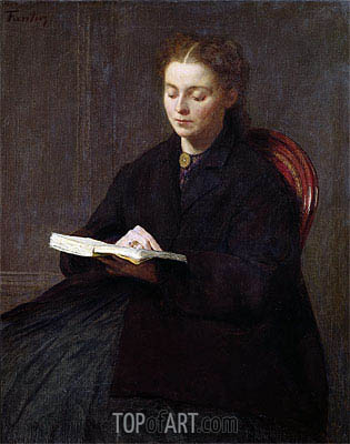 Reading, 1863 | Fantin-Latour| Painting Reproduction