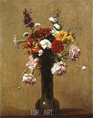 Small Bouquet, 1891 | Fantin-Latour| Painting Reproduction