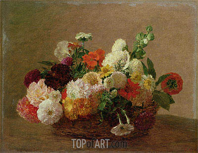 Flower Still Life, undated | Fantin-Latour| Painting Reproduction